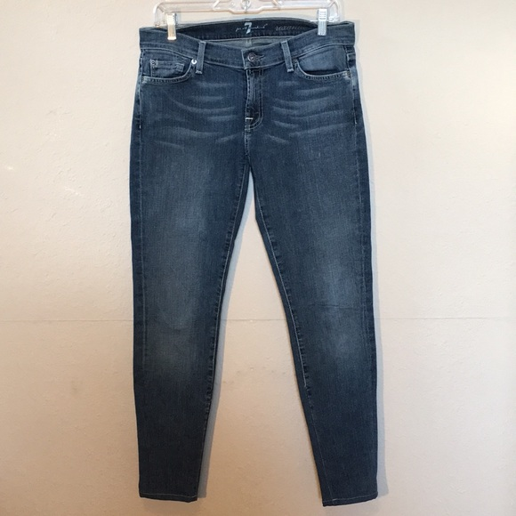 7 For All Mankind Denim - 7 for all mankind Roxanne Jeans sz 29 Medium wash